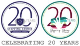20 years Stepping Stones Prep Academy badge